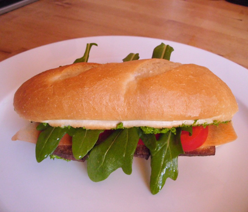 Petersilien Pesto Baguette